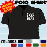 COFFEE SHOP CAFE PERSONALISED T POLO SHIRT EMBROIDERED FULL COLOUR LOGO X10 TOPS